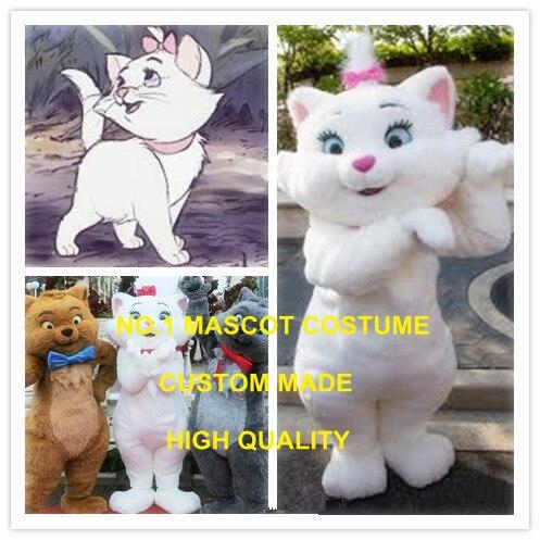 Chaude Anime Cosplay Costumes Blanc En Peluche de Mascotte de Chat Chat Adulte Thème Dessin Animé Personnage Mascotte Déguisement Combinaison Kits 1985