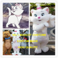 Hot Anime Cosply Costumes White Plush Cat Mascot Costume Adult Cat Theme Cartoon Character Mascotte Fancy Dress Suit Kits 1985