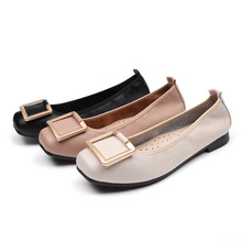 Luxury 2019 New Women Flats Shoes Ballet Square Toe Fashion Casual Woman Shallow Slip-on Soft Bottom High Quality