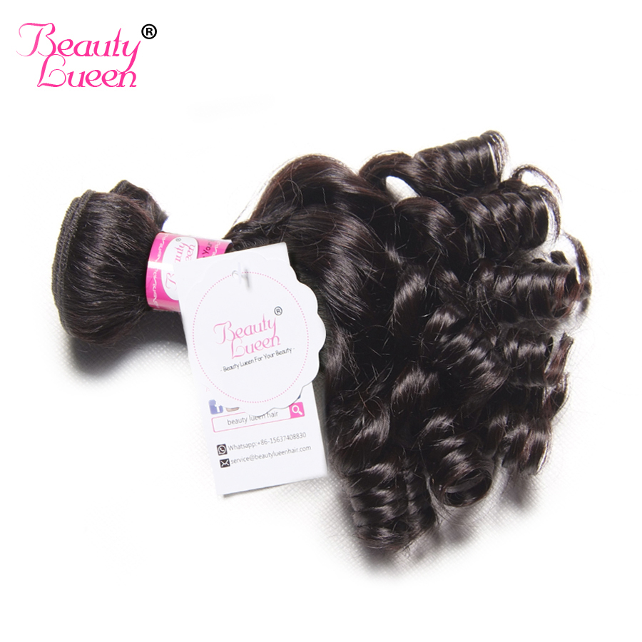 Brasilianische Haarwebart Bouncy Curly Weave Funmi Menschenhaar bündelt Erweiterungen 1 STÜCK kaufen 3/4 Bundles kurze Bob Nicht Remy Haar