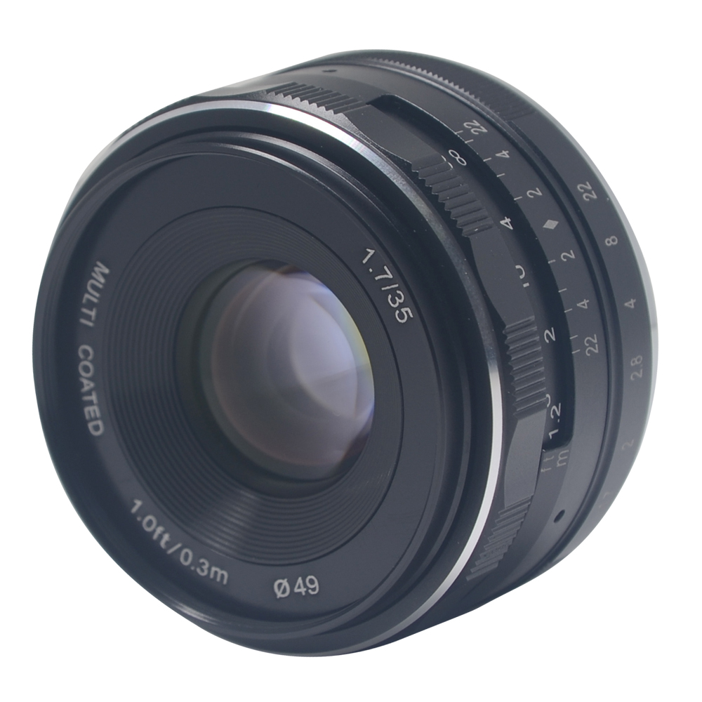 Meike MK-35-1.7 35mm f1.7 large Aperture Manual Multi Coated Focus lens APS-C for Mirrorless Camera Canon Eos M1 M2 M3