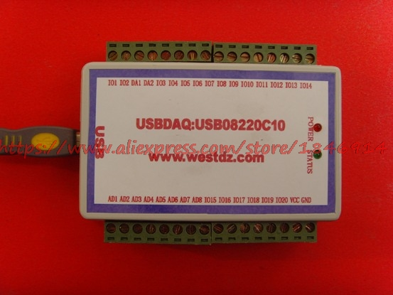 USB, Data Acquisition Card, 8 Analog AD, 2-4 Analog DA, 18-20 Two-way Switch