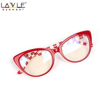 2018 New Design Handmade Acetate Glasses Eyewear Frames for Young Girls Anti Blue Rays Lenses Specta