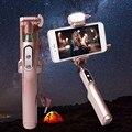 100% НОВЫЕ Благородные Selfie Stick заполните СВЕТОДИОДНАЯ Вспышка Света Карман Selfie Палка с Bluetoot на Всех Телефонов
