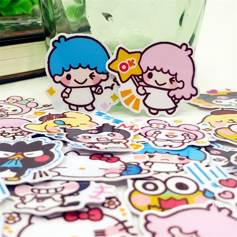 40 Pcs Cartoon Gemini Stickers Set Decorative Stationery Craft Stickers Scrapbooking DIY Diary Album Stick Student Label
