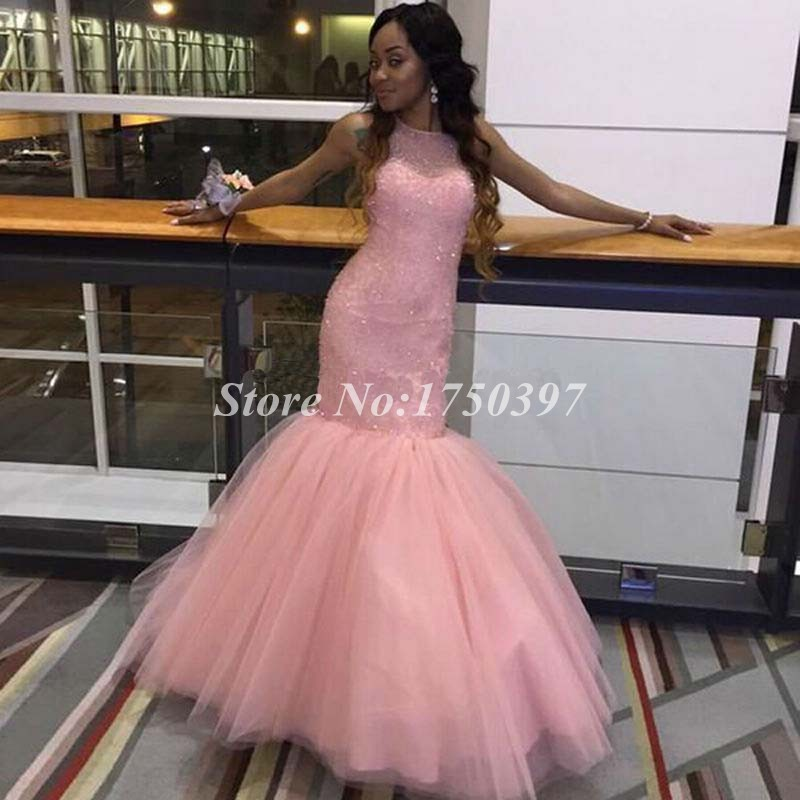 Aliexpress.com : Buy Sparking Pink Mermaid Prom Dresses Long ...