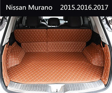 Auto Cargo Liner Car Trunk Mats For Nissan Murano 2015.2016.2017 Surrounded by all Carpets High Quality Embroidery Leather Mats