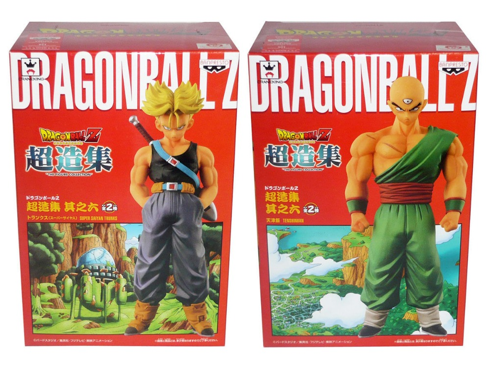 Japan Anime DRAGONBALL Dragon Ball Z Original BANPRESTO Chozousyu Collection Figure Vol.6 - Super Saiyan Trunks & Tenshinhan original banpresto world collectable figure wcf the historical characters vol 3 full set of 6 pieces from dragon ball z