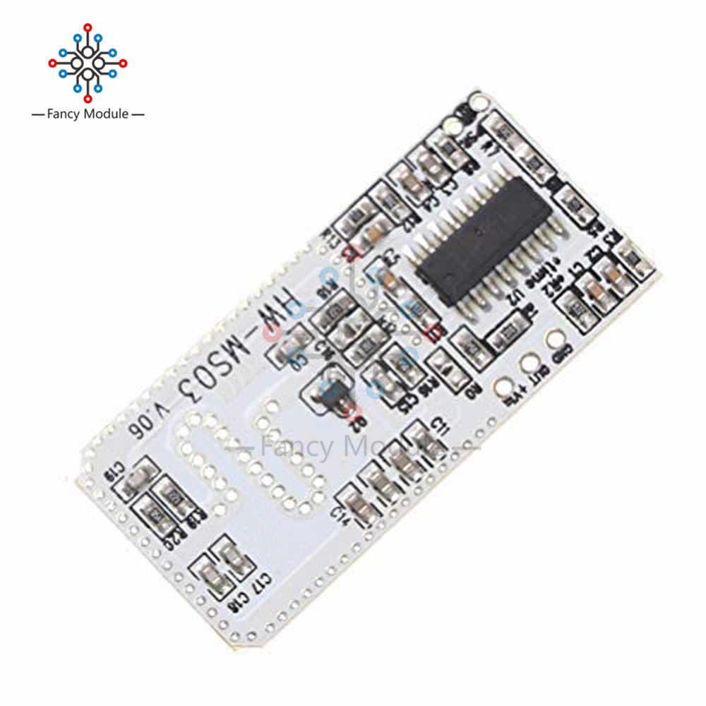 High Performance Motion Sensor Module Radar Motion Sensor HW-MS03 2 4GHz to  5 8GHz Microwave Radar Sensor Module for Arduino