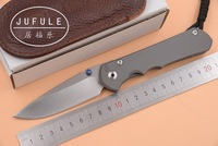 JUFULE MADE Large Sebenza 25 CPM S35vn TC4 titanium handle folding fruit pocket camping hunting EDC tool dinner kitchen knife