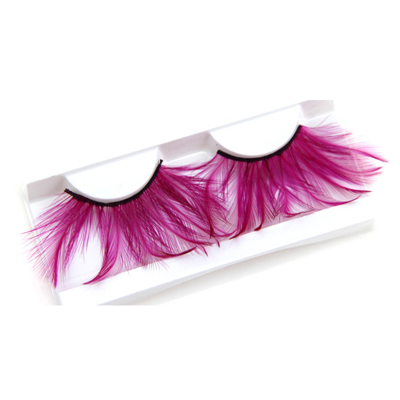 YOKPN Soft Black Terrier Fake Eyelashes Professional Makeup Tips Full Strip  Lashes Stage Party False Eye Lashes Pink Feather-in False Eyelashes from  Beauty ...