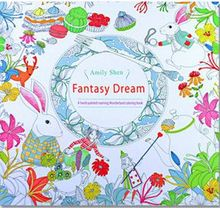 24 Pages Drawing Book Fantasy Dream English Edition Coloring Book For Childs Adult Relieve Stress Kill Time Painting