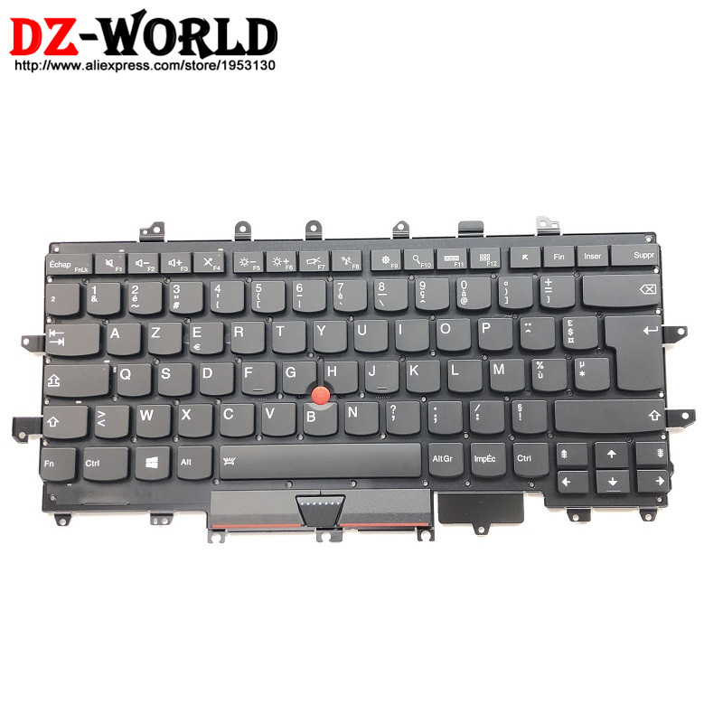 New Original for Lenovo Thinkpad X1 Carbon 4th MT 20FB 20FC French FR Keyboard Backlit Backlight