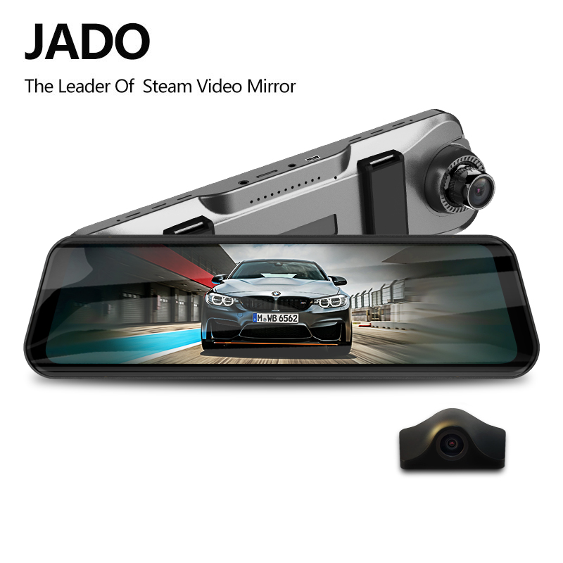JADO Car Dvr Dash-Camera Rearview-Mirror Car-Recorder Touch-Screen Stream 1080P Full-Hd