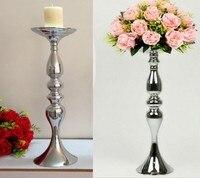 Flor bola de exibição titular decoração da tabela do casamento cessórios centrais Candelabros Candlestick Castiçais Ficar Vaso de Flores