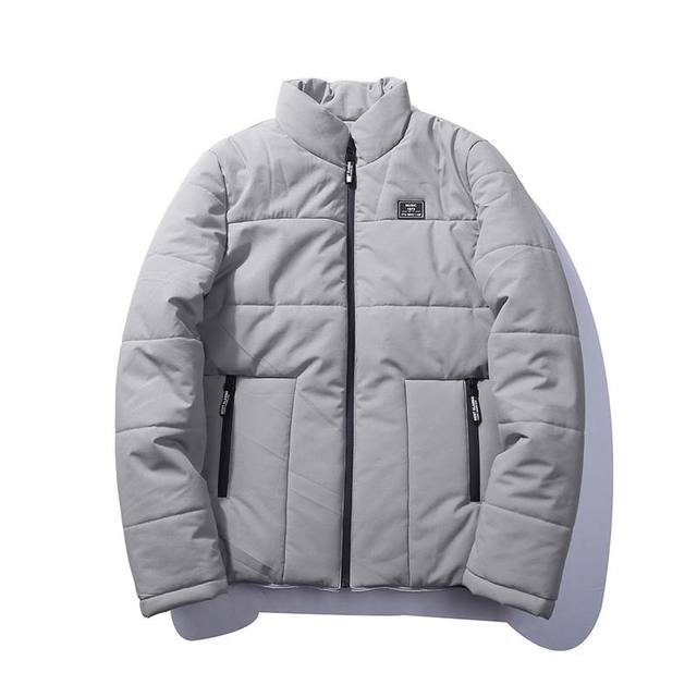 Winterjas Heren M.Winterjas Heren Solid Warm Uitloper Patch Ontwerp Polyester Nieuwe