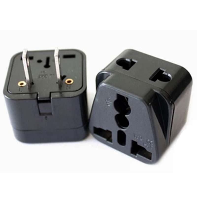 10pcs Lot 1to2 Taiwan Usa Japan Plug Power Travel Converter Power Plug 3 Pin And 2 Pin To Usa Us