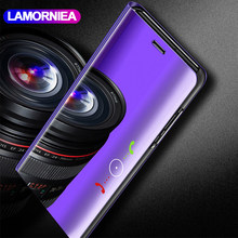 Lamorniea Mirror View Case For XiaoMi Mi Max 3 Flip Leather Stand Cover PocoPhone F1 RedMi Note 6 Pro RedMi 4X RedMi 5 Plus Case(China)
