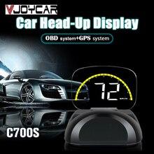 2019 Новый HUD OBD2 Heads Up Дисплей спидометр автомобиля цифровое зеркало проецирования gps OBD диагностический инструмент Батарея Напряжение время компаний