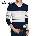 2016 New Men Pullover Casual Autumn Men's Sweater Slim Fit Brand Fashion Striped Pullover V-Neck Sweater Good Quality Hot Sale