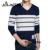 2016 Nuevos Hombres Suéter Ocasional Otoño Suéter hombres Camiseta Slim Fit Marca de Moda de Rayas Suéter Con Cuello En V Suéter de la Buena Calidad Caliente venta