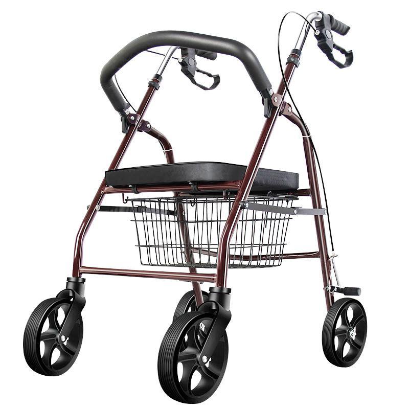 Пожилой скутер складная корзина для покупок с сиденьем четырехколесная