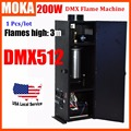 Fase DMX Projetor Chama Spray Equipamento de Palco para a festa de fogos de Artifício Chama projetor