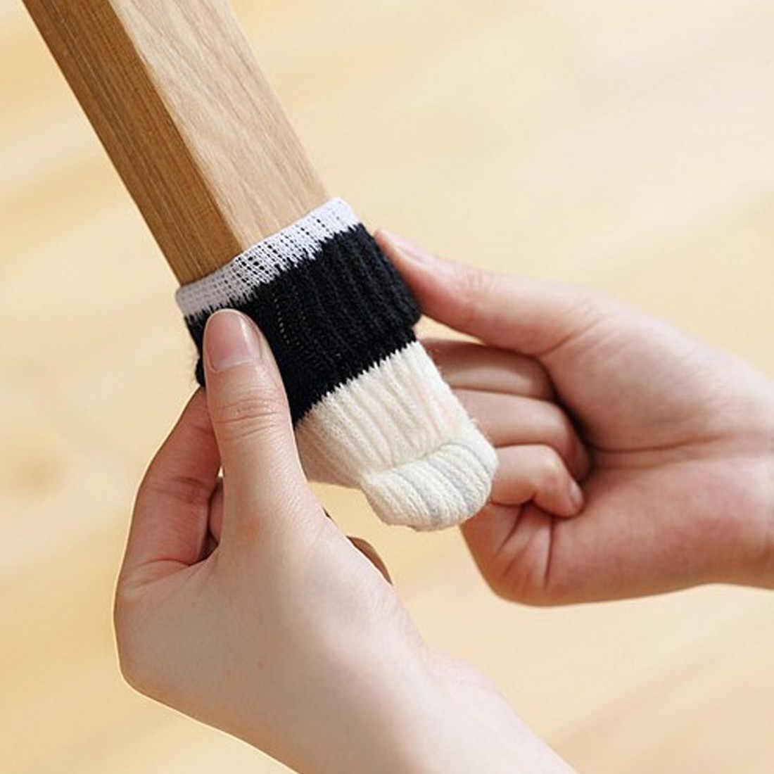 Защита для пола, стул, коврик для ног, мебель для ног, шерстяное вязаное покрытие, Чехол для стула, кошачьи подушечки, защита для пола, носки, стол