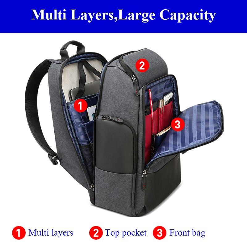 Mochila De Viaje Unisex para mujer, mochila de hombre, mochila de viaje de negocios, antirrobo, mochila grande para ordenador portátil de 17 pulgadas - 2