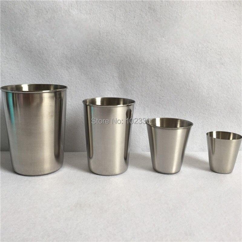 100pcs Stainless Steel Metal Beer Cup Wine Cups Coffee Tumbler Tea Milk Whisky Jigger Home Bar Drinkware 30ml