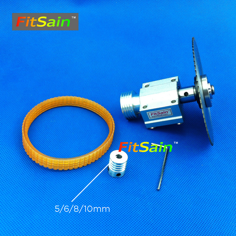 FitSain-Mini table saw for motor shaft 5/6/8/10mm saw blade 16mm/20mm hole Belt spindle Cutting saws Machine Pulley Bracket image