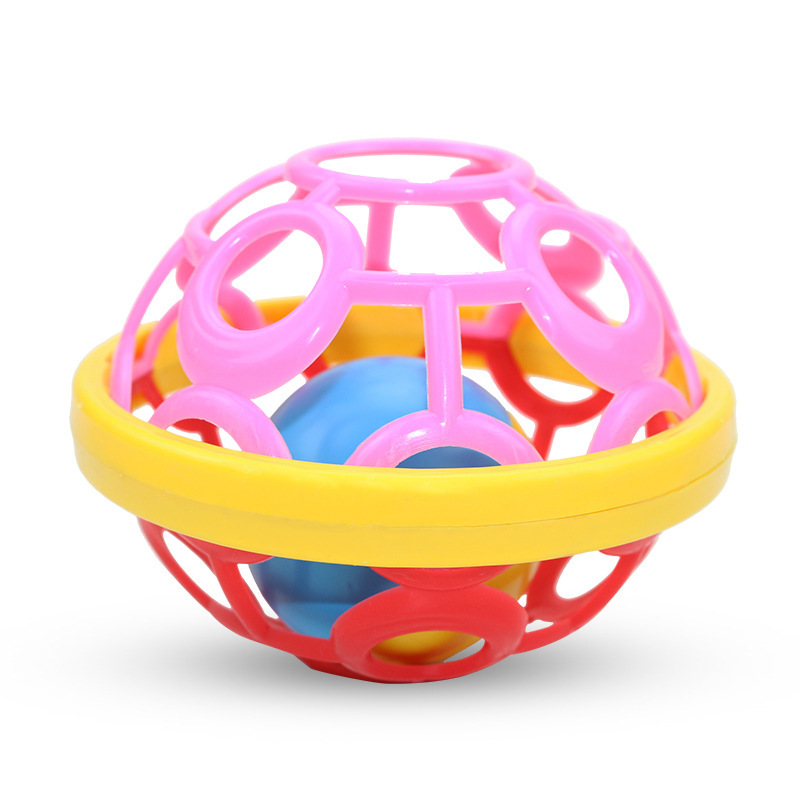 newborn soft rubber ball rattle maternal and baby toy set infant bed bell baby rattle ball toddler puzzle early education bell
