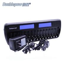 16 slots Doublepow DP-K106 2-LCD Eingebaute IC Schutz Intelligente Schnellladegerät für 16 stücke 1,2 V AA/AAA ni-mh/Ni-CD