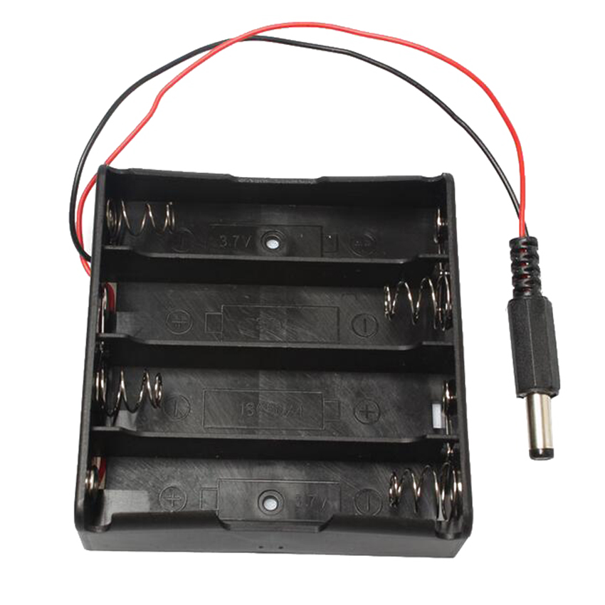 400pcs/lot MasterFire 18650 Battery Holder Plastic Batteries Cover Storage Box Case for 4 x With DC5.5*2.1mm power plug