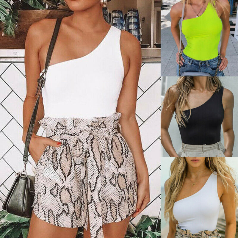 Women 39 s Clubwear Holiday Summer Mini Jumpsuit Playsuit Beach One Shoulder Romper S L in Bodysuits from Women 39 s Clothing