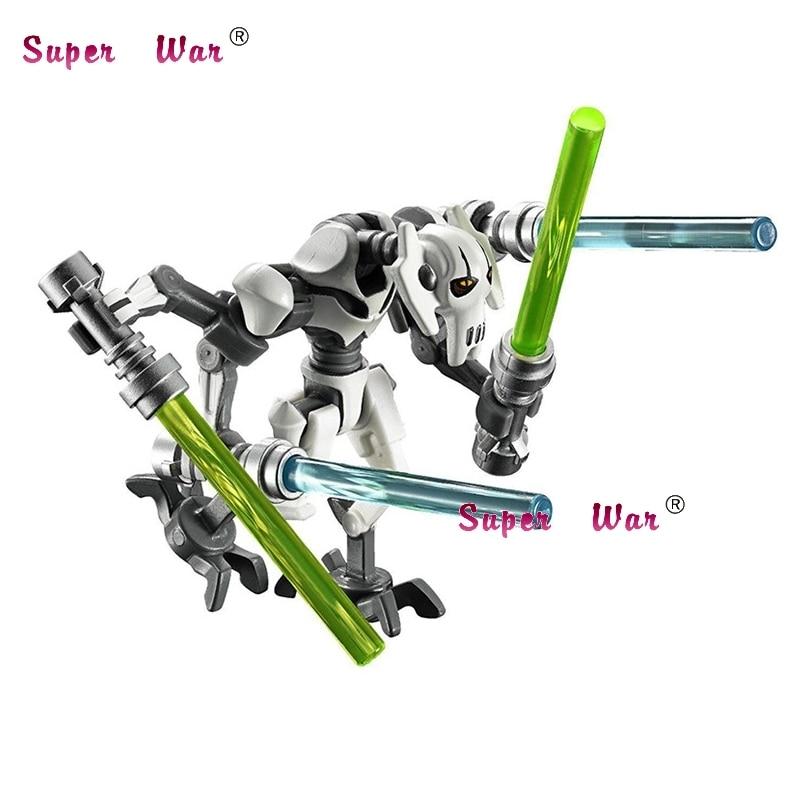 1PCS PG630 Star Wars General Grievous With Lightsaber w/gun 7 Building Block Children Gift toys