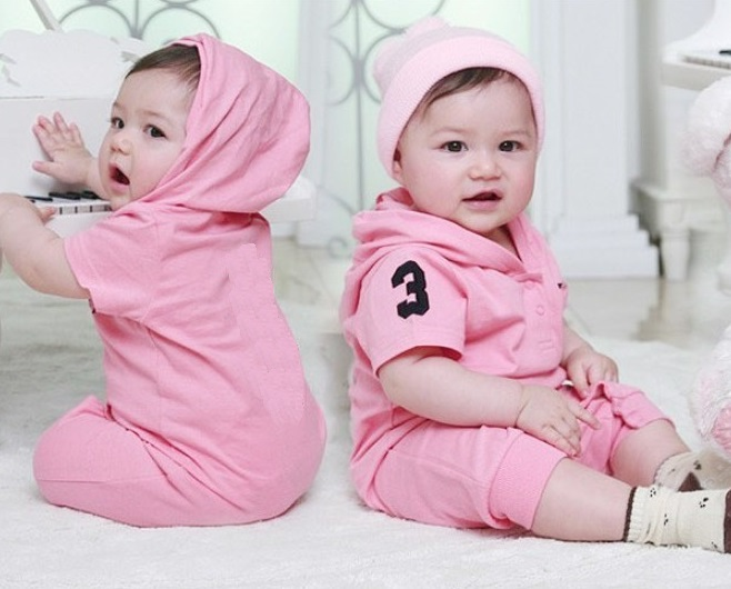 Hooded Baby Girls Rompers Shortalls Polo Toddler Romper 100% Cotton new born baby girls infant-clothing jumpsuit 2017 new baby romper 100