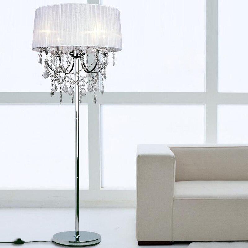 Elegant luxury led crystal floor lamps lights indoor - Elegant floor lamps for living room ...