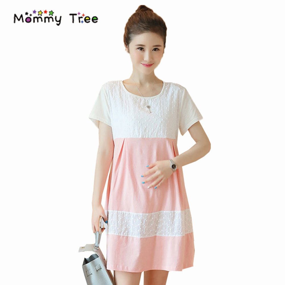 Compare prices on maternity pink dresses online shoppingbuy low fashion lace patchwork maternity dresses cute pink pregnant dress elegant slim maternity dress summer casual ombrellifo Gallery