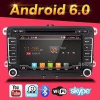 Android 6.0 car dvd player gps navigasyon Volkswagen skoda yeti için superb hızlı fabia octavia araba video oynatıcı radyo gps 2 din