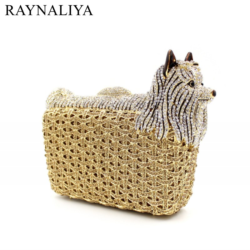 цены на Animal Shape Luxury Party Crystal Bags Women Diamond Evening Clutches Wedding Prom Bag Ladies Small Dog Handbags SMYZH-E0228 в интернет-магазинах