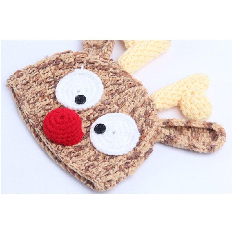 Гибкая олень шапки для детей, детские дети Регулируемая крючком оленей шляпа, новорожденных Подставки для фотографий костюм для 0-36 месяцев