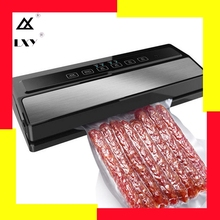 лучшая цена 220V 110W Vacuum Sealing Machine Home Best Vacuum Sealer Fresh Packaging Machine Food Saver Vacuum Packer Include 5Pcs Bags Free