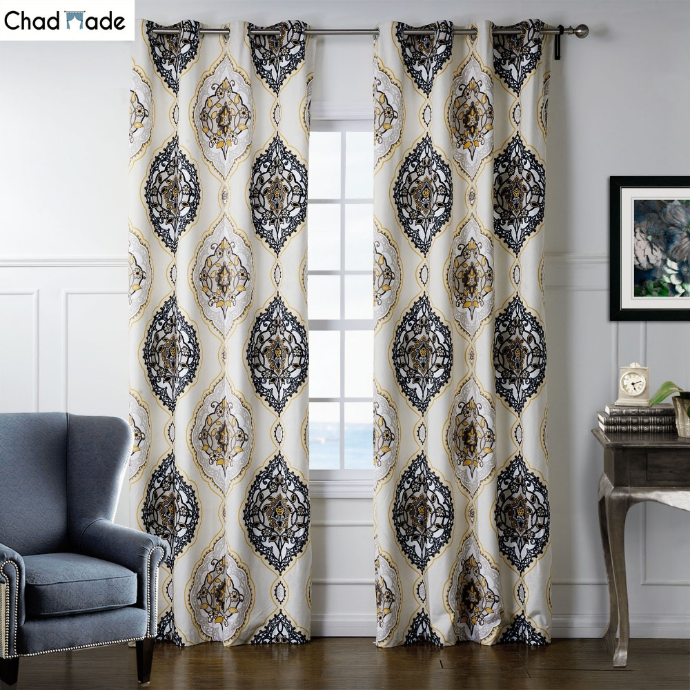 popular modern patterned curtainsbuy cheap modern patterned  - chadmade modern leaves pattern printing design home window high shadingcloth curtains for bedroom living room