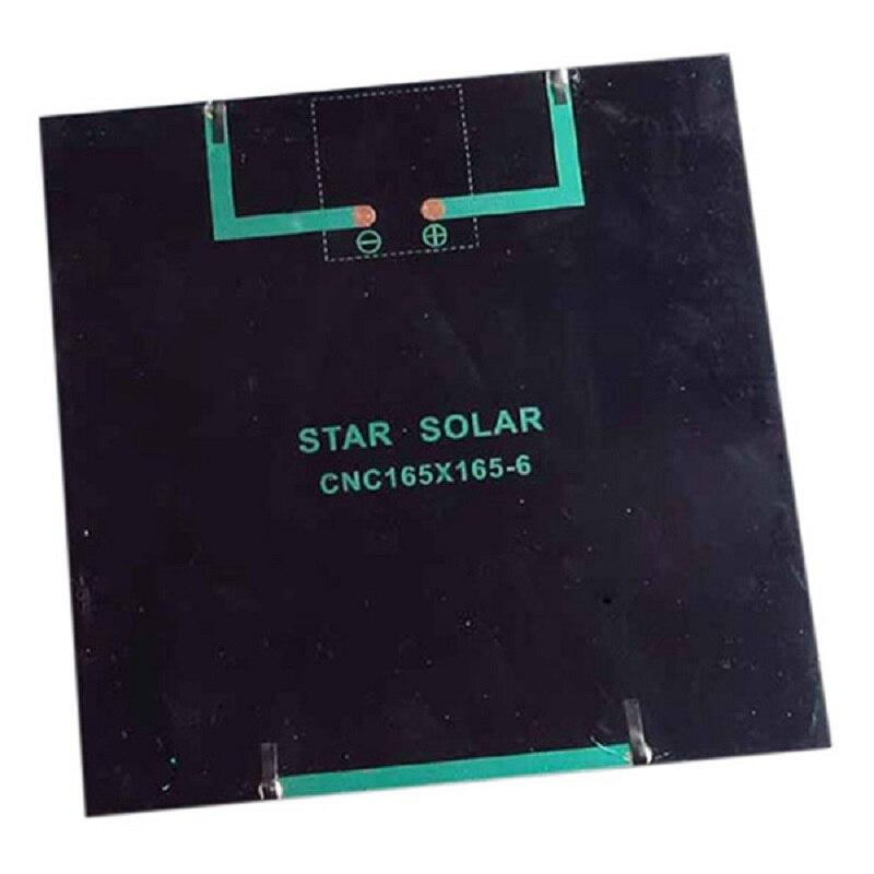 Monocrystalline Solar Panel Module For Battery Cell Phone Charger DIY Model 165X165mm 6V 4.5W black