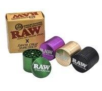 Aluminum 53mm 4pc RAWgrinder Smoking tobacco grinder for herbal CNC metal herb grinder for smoke herb