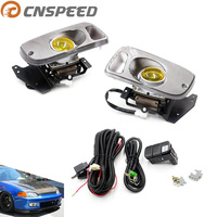 CNSPEED Fog Light Yellow For Honda Civic 92 95 2/3DR EG Car H3 haloge Fog Light 12V Bulb Light Full Set With Switch YC100478