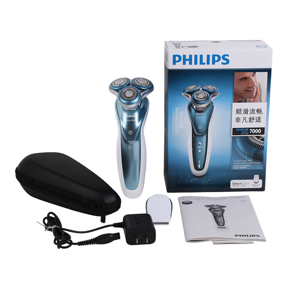 Image 4 - Professional Philips Electric Shaver S7370 with Gentle Precision PRO Blades SmartClick precision trimmer Wet and dry for Mens-in Electric Shavers from Home Appliances
