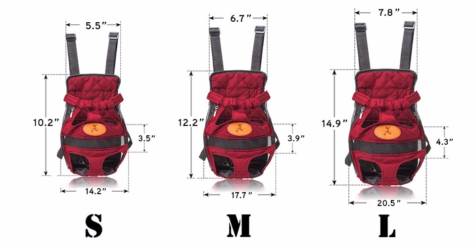 small dog carrier size