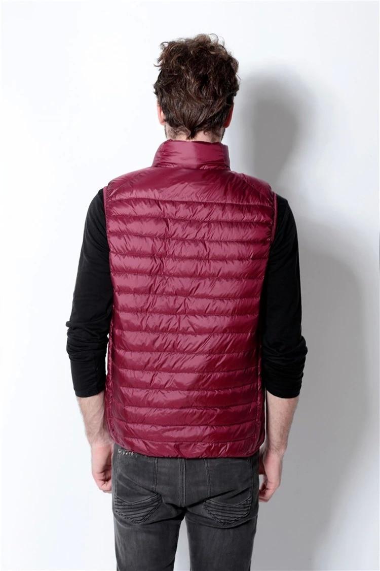 Mens vests sleeveless 100% white duck down jacket man 2016 casual vests for men jacket male coat